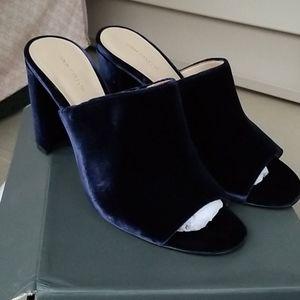 Ann Taylor Hayden Velvet Mule Heel